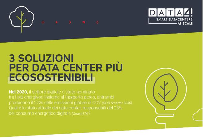 3 Soluzioni Per Data Center Più Ecosostenibili